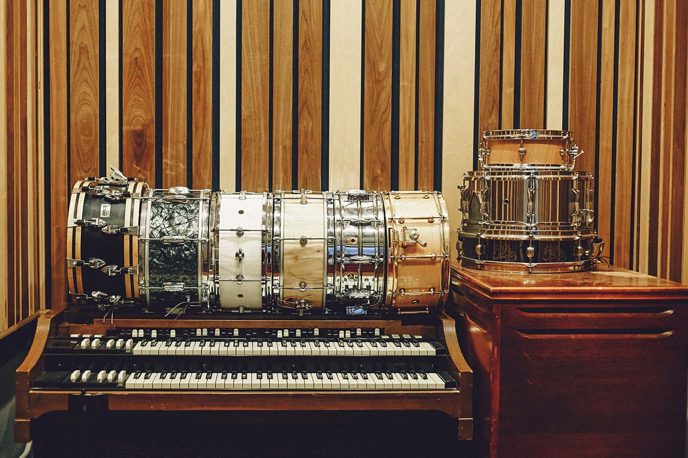 snares, organ, keys, iso booth - douglass recording brooklyn